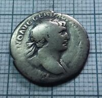 ORIGINAL Ancient ROMAN SILVER COIN denarius Traianus ,Trajan 98-117 AD. #039