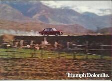 TRIUMPH DOLOMITE (LE MANS, MONZA, 'THE GAP') CAR BROCHURE OCTOBER 1974 FOR 1975