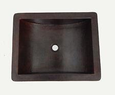 # 81 Mexican  Copper Sink Bathroom  Dark Patina