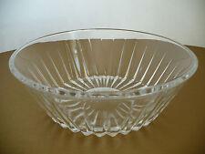 "Val St. Lambert Crystal Cut Round 9"" Glass Bowl"