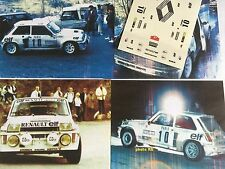 DECALS CALCA 1 43 RENAULT 5 TURBO N° 10 RALLY WRC MONTE CARLO 1985 MONTECARLO