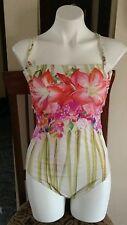 Gottex Loutis One Piece Swimsuit Sz 14 Color Multicolor NWT
