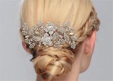 Diamant Peigne à cheveux mariage floral Coiffe CRISTAL accessoires 1 pièce