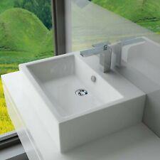 Handwaschbecken Hänge Aufsatz Waschtisch Waschbecken Keramik 52x41x16cm WS64
