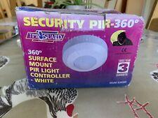 Single 360º PIR Motion Sensor Modern Security Fixture White Clearance Litecraft