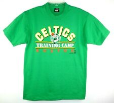 Vintage Celtics T-Shirt Size L Youth Training Camp Boston Green Screen Stars