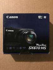 Canon PowerShot SX610 HS 20.2MP 18X Optical Zoom Wi-Fi Digital Camera (Black)