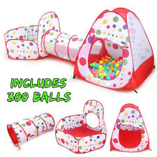 Polka Dot 3-in-1 Folding Kids Play Tent with 300 Balls
