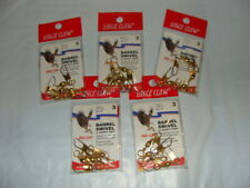 Eagle Claw BRASS Snap Swivels  - Size 3 - 5 packages, 4 per package