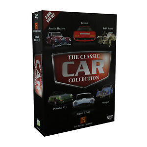 History Channel The Classic Cars Collection 3 DVD Box Set Enthusiast Lovers Gift