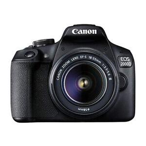 Canon EOS 2000D + EF-S 18-55mm DC III Fotocamera Reflex Nero 24.1Mpx