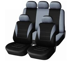 9PC UNIVERSAL LIGHT FULL CAR SEAT COVERS SET PROTECTORS GREY WASHABLE NEW IN BAG