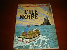 TINTIN L'ILE NOIRE  B38 BIS DE 1969