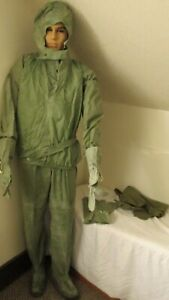 Romanian Rubber NBC/Chemical suit with Coat Top Caring bag,  Size Large
