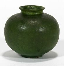Grueby Pottery matte green spherical cabinet vase Arts & Crafts Boston
