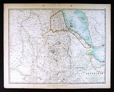 1906 Johnston Map - Abyssinia Nubia - Ethiopia Africa Red Sea Sahara Sudan Yemen