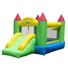 Homcom Kids Bouncy Castle Inflatable Bouncer House Slide Jumper w/ Airflow Fan