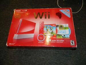 Vintage 2010 Nintendo Wii Red Console Box ONLY