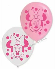 DISNEY MINNIE MOUSE BALLOON 30CM 10PK BIRTHDAY PARTY BABY SHOWER PINK WHITE GIRL