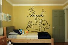 Custom Name Wall Decal Vinyl Sticker Kids Baby Room Decor Lion King Text FN210