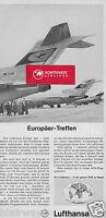 LUFTHANSA GERMAN AIRLINES BOEING 727-100 EUROPA JET EUROPAER-TREFFEN GERMAN AD