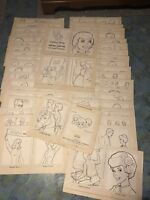 BARBIE KEN MIDGE original art 192 PAGES coloring book 1964 AMAZING COMPLETE LOT