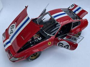 Ferrari 365 GTB/4 diecast model race car Daytona Red Number 64 1:18 Kyosho 8163A
