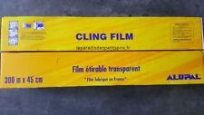 Film alimentaire, film étirable transparent 300 m x 45 cm ,Fabrication Française
