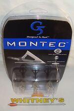 G5 Archery Montec 3 Blade 85 Grain Broadhead / Broad Heads- 3 PK - 116
