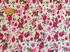 FABRIC PER METRE FAT QUARTERS FLORAL BUTTERFLY HEARTS OWLS CRAFT BUNTING SEWING