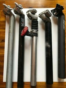 Seatposts, set of 5, old stock, 27.2 (3), 30.8 and 31.6