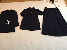 Bianca Women's 3 Piece Suit Jacket Waistcoat Skirt Size 42