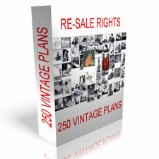 OVER 250 VINTAGE PLANS PROJECTS ALL ON CD WITH FULL RE-SALE RIGHTS