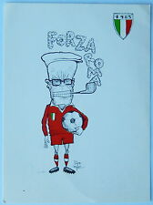 Cartolina Pertini Forza Roma 1983