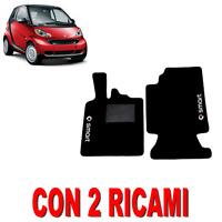 TAPPETINI PER AUTO SU MISURA PER SMART FORTWO (W451) MOQUETTE E GOMMA + 2 RICAMI