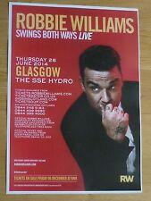 Robbie Williams - Glasgow june 2014 tour concert gig poster
