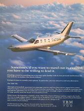 1992-1993 PUB SOCATA AEROSPATIALE AVION TBM 700 AIRCRAFT FLUGZEUG ORIGINAL AD
