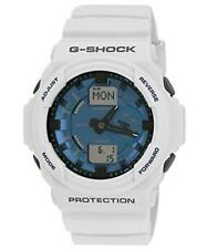 Casio G-Shock GA-150MF-7A Original White Mens Watch 200M Diver GA-150 Blue Dial