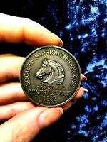 1882 Paris Horses Show -Art Nouveau French Silver Equestrian medal by Bescher