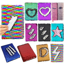 Reversible Sequin Journal Diary Magic A6 Note book Writing Book for Kids