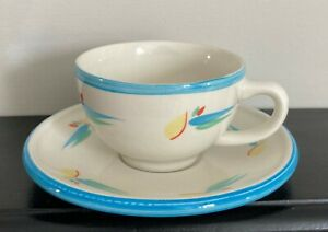 Vintage Habitat Isis 1980's Coffee Cup And Saucer