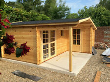 More details for log cabin with side annex for storage 40mm: 5.1m x 4.9m/4.8m in stock!!!