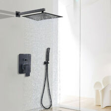 Shower Faucet System 12 inch Rain Shower Head With Hand Shower Oil Rubbed Bronze