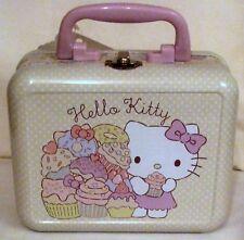 Hello Kitty Mini Metal Vanity  Case With Handle By Sanrio