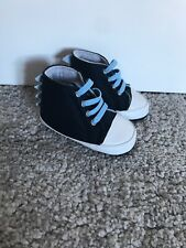 Brand New Mothercare Baby Boy Size 0 Navy Blue Dinosaur Theme Shoes