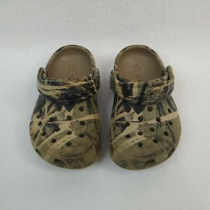 Crocs Baby Toddler Slip On Shoes Green Camo Size 6 Iconic Comfort Sandals Casual