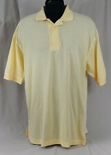 Ping Polo Golf Shirt Mens Size XL Enron Logo Mercerized Cotton Yellow NWOT