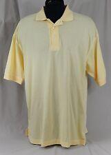 Ping Polo Golf Shirt Mens Size XL Enron Logo Mercerized Cotton Yellow NWOT