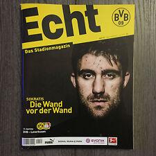BVB * BORUSSIA DORTMUND*Stadionmagazin ECHT*Heft Nr. 121*BVB-Leverkusen*Sokratis