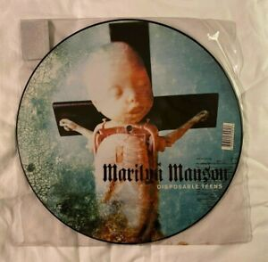 "Marilyn Manson Disposable Teens 12"" Picture Disc Record Limited Edition 2000"